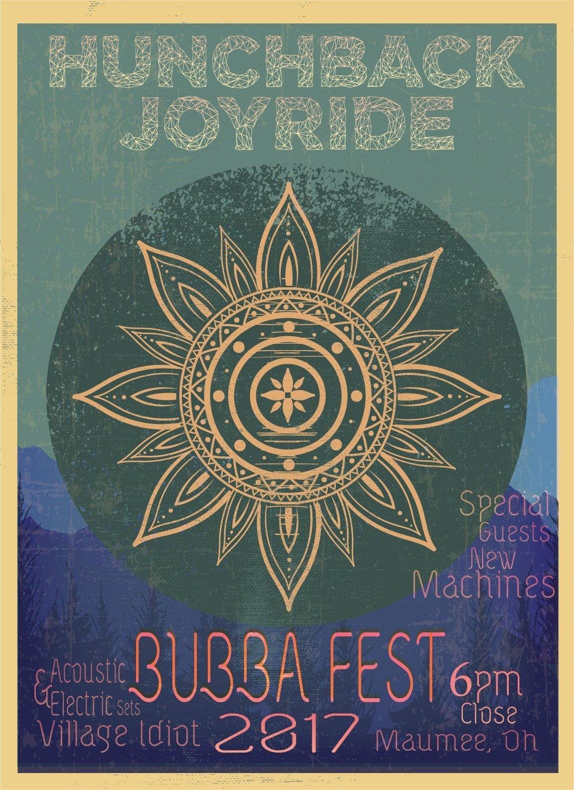 Hunchback Joyride – Bubbafest 2017 Flyer