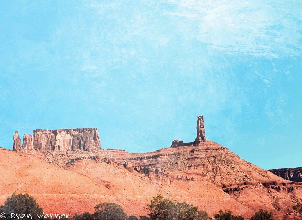 Castle Rock Formations in Castle Valley, Utah