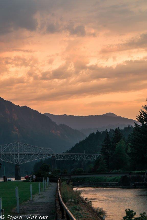 Ryan Warner - Columbia River Gorge Sunset #6 - Oregon - 2015 - Photgraphy